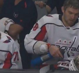 Овечкин воспользовался газовой горелкой прямо на матче НХЛ