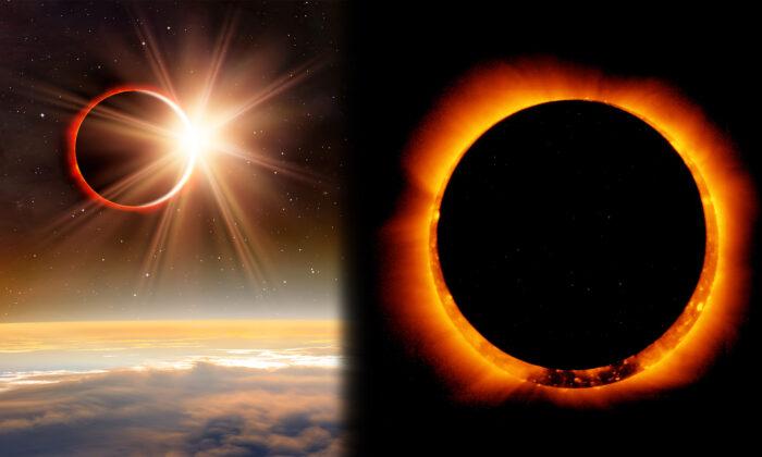 Кольцо огня: необычное солнечное затмение