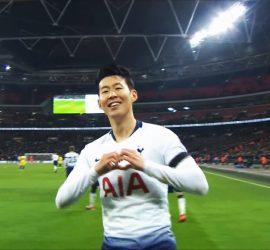 Невероятный гол Сон Хын Мина признан лучшим в АПЛ