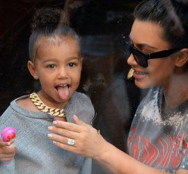Шестилетняя дочь Кардашьян зачитала рэп на неделе моды в Париже