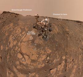 Марсоход Curiosity создал новое видео