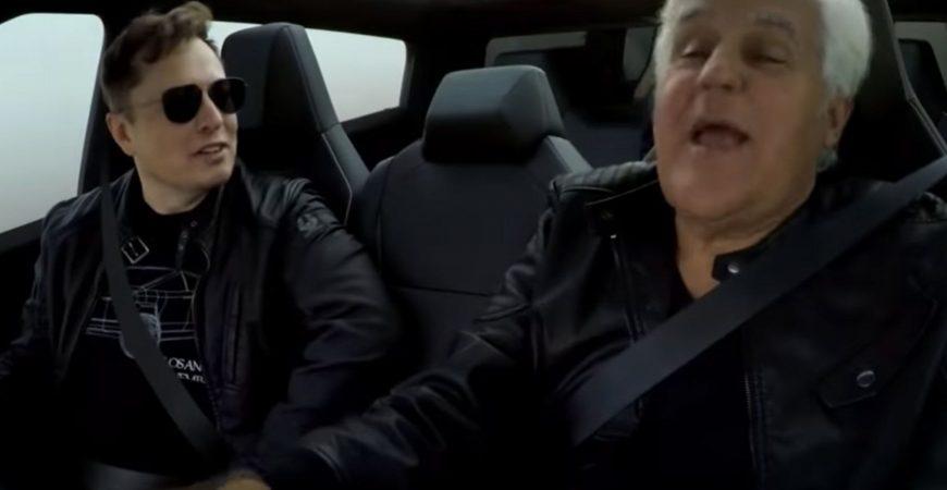 Илон Маск и Джей Лено протестировали Tesla Cybertruck в тоннеле под Лос-Анджелесом
