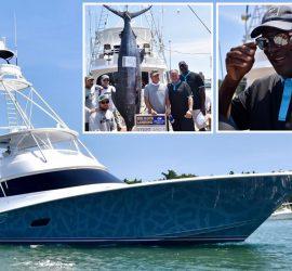 Майкл Джордан поймал гигантскую рыбу