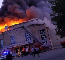 В Гусь-Хрустальном произошел масштабный пожар