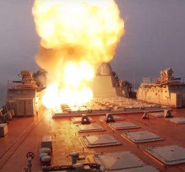Видео запуска противокорабельных ракет в Баренцевом море
