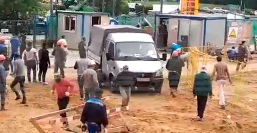 В Северном Чертаново строители устроили массовую драку