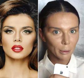 Как выглядят российские звезды без макияжа