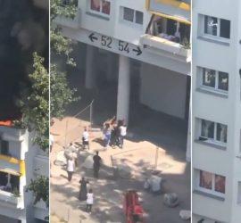 Во Франции дети выпрыгнули из окна горящей квартиры