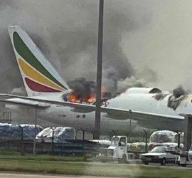 В Шанхае загорелся Boeing 777