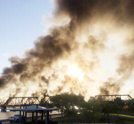В штате Аризона разгорелся мощный пожар