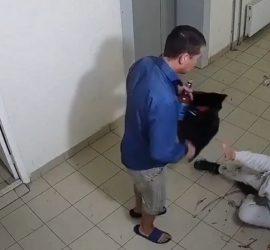 В Уфе парень избил свою девушку бутылкой водки: видео с камер наблюдения