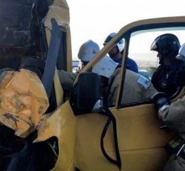 В ДТП в Крыму погибли восемь человек: кадры с места аварии
