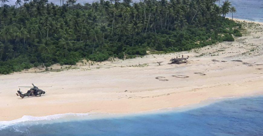 С необитаемого острова спасли без вести пропавших моряков
