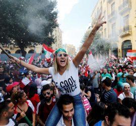 Демонстранты устроили хаос в Бейруте