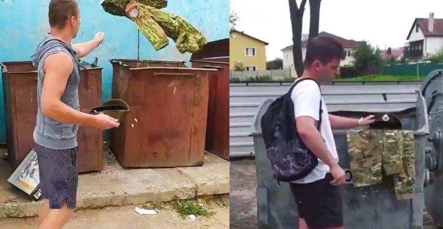 В Белоруссии силовики массово выбросили свою форму в мусорку