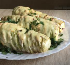 Необычный рецепт фаршированных кабачков
