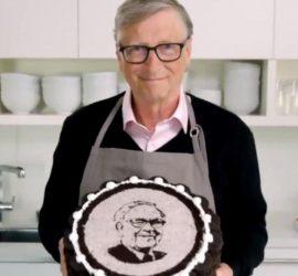 Билл Гейтс испек торт ко дню рождения Баффетта