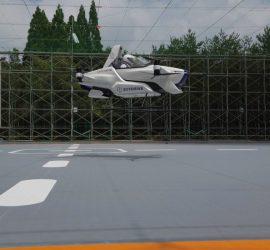 В Японии впервые испытали летающее авто