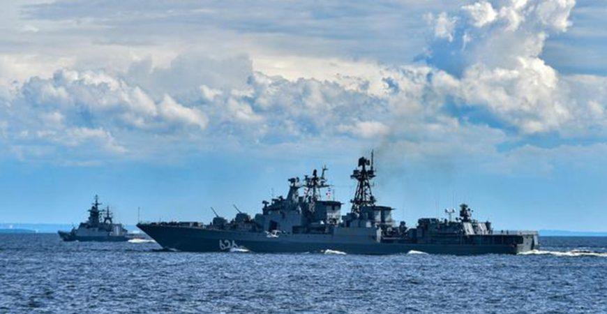 Минобороны РФ показало военно-морские учения на Чукотке
