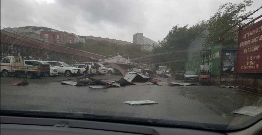 Тропический тайфун Майсак разбушевался в Приморье