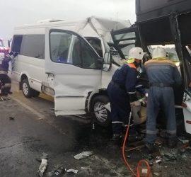 Девять человек пострадали в жутком ДТП под Анапой