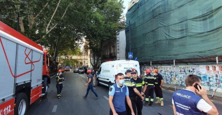 В центре Тбилиси прогремел мощный взрыв