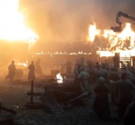 В Подмосковье во время съемок фильма произошел пожар