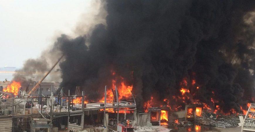 В Бейруте вспыхнул масштабный пожар