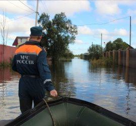 В Комсомольске-на-Амуре уровень реки достиг опасной отметки